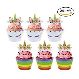 Unicorn Cupcake Toppers and Wrappers
